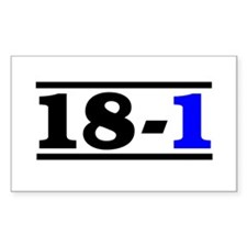 18-1 Rectangle Decal