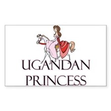 Ugandan Princess Rectangle Decal
