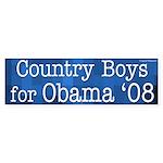 Country Boys for Obama '08 bumper sticker