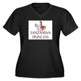 Tanzanian Princess Women's Plus Size V-Neck Dark T