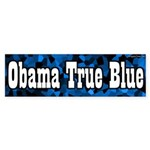Obama True Blue bumper sticker