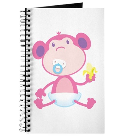 Pink Monkey Pacifier Journal