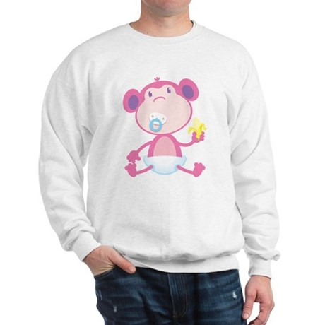 Pink Monkey Pacifier Sweatshirt