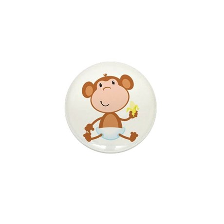 Baby Monkey Mini Button
