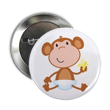 "Baby Monkey 2.25"" Button"