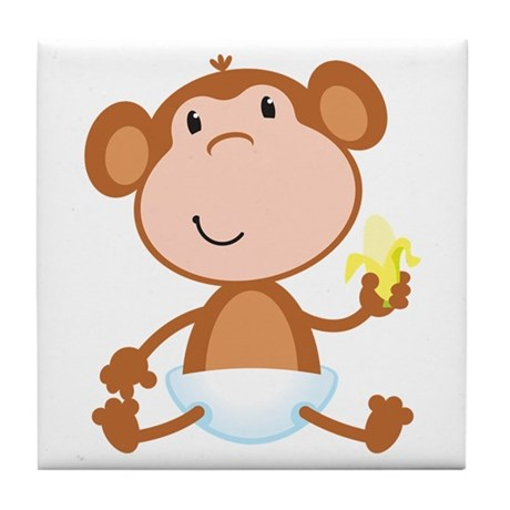 Baby Monkey Tile Coaster