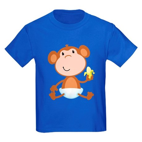Baby Monkey Kids Dark T-Shirt