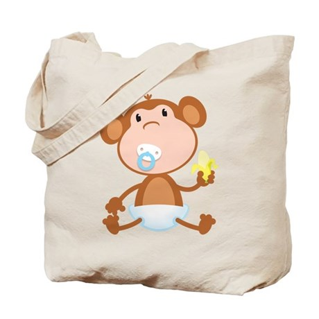 Pacifier Monkey Tote Bag