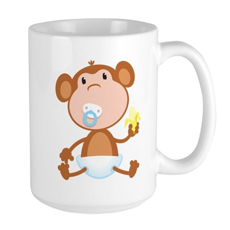 Pacifier Monkey Large Mug