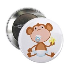 "Pacifier Monkey 2.25"" Button"