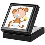 Pacifier Monkey Keepsake Box