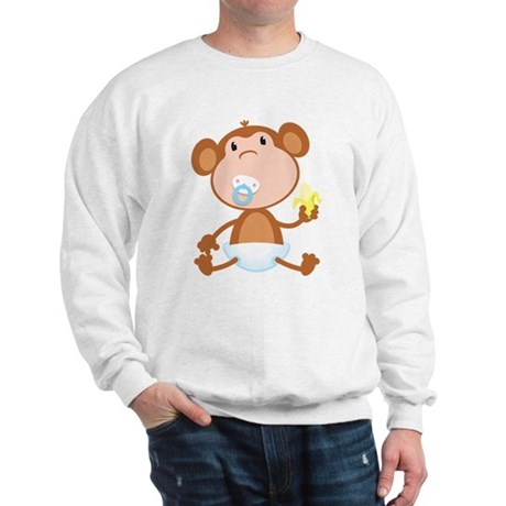 Pacifier Monkey Sweatshirt