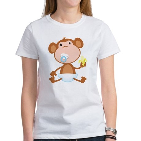 Pacifier Monkey Women's T-Shirt