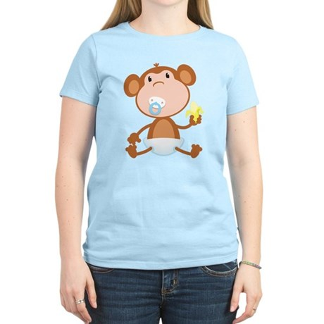 Pacifier Monkey Women's Light T-Shirt