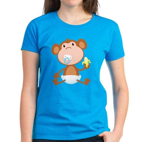 Pacifier Monkey Women's Dark T-Shirt