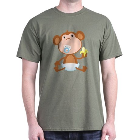 Pacifier Monkey Dark T-Shirt