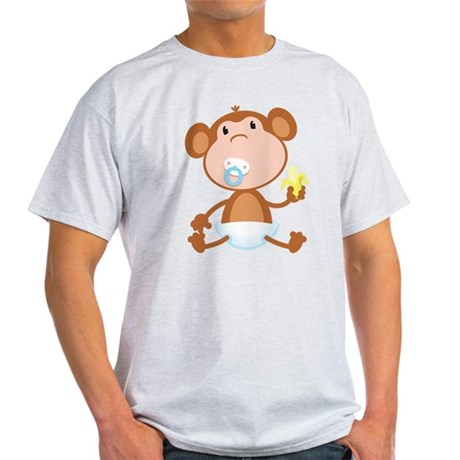 Pacifier Monkey Light T-Shirt