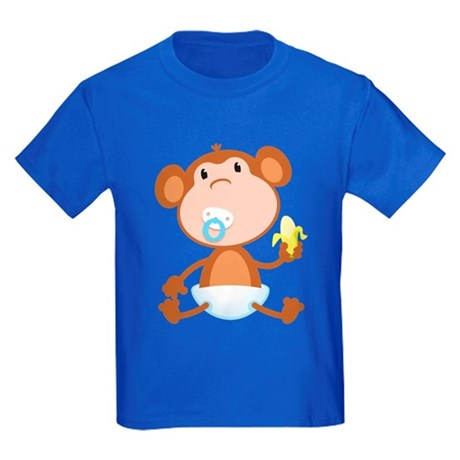 Pacifier Monkey Kids Dark T-Shirt