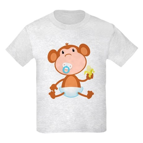 Pacifier Monkey Kids Light T-Shirt