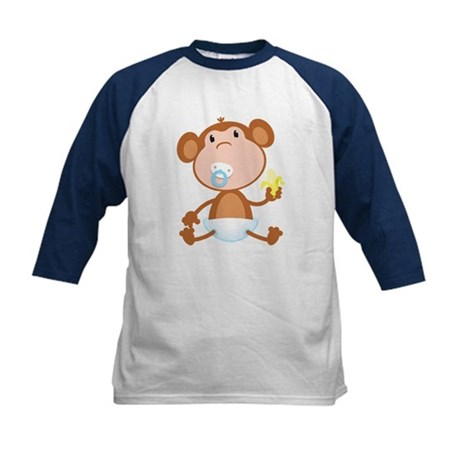 Pacifier Monkey Kids Baseball Jersey