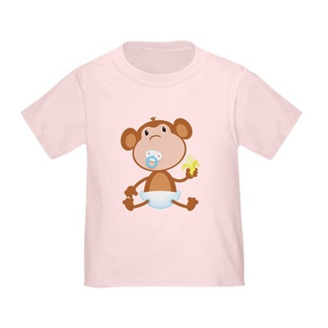 Pacifier Monkey Toddler T-Shirt