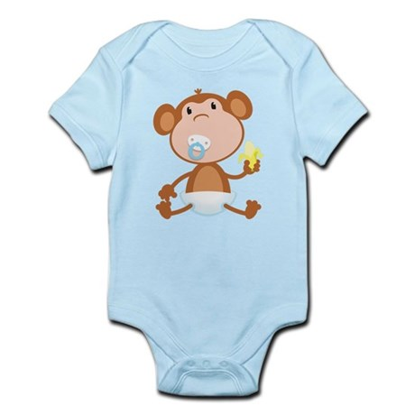 Pacifier Monkey Infant Bodysuit