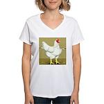 Cornish/Rock Cross Hen Women's V-Neck T-Shirt