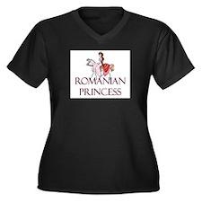 Romanian Princess Women's Plus Size V-Neck Dark T-