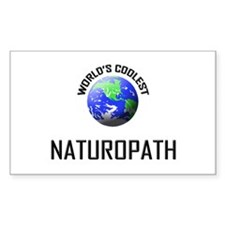 World's Coolest NATUROPATH Rectangle Decal