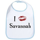 I Kissed Savannah Bib