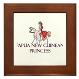 Papua New Guinean Princess Framed Tile