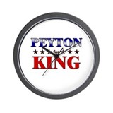 PEYTON for king Wall Clock