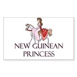 New Guinean Princess Rectangle Decal