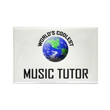 World's Coolest MUSIC TUTOR Rectangle Magnet