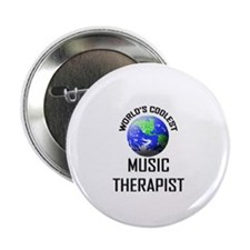 "World's Coolest MUSIC THERAPIST 2.25"" Button (10 p"