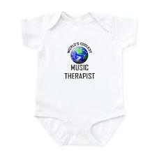 World's Coolest MUSIC THERAPIST Infant Bodysuit