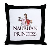 Nauruan Princess Throw Pillow