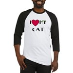 I LOVE MY CAT Baseball Jersey