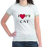 I LOVE MY CAT Jr. Ringer T-Shirt