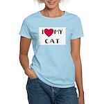 I LOVE MY CAT Women's Pink T-Shirt