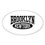 Brooklyn New York Oval Sticker