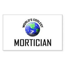 World's Coolest MORTICIAN Rectangle Decal