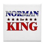 NORMAN for king Tile Coaster