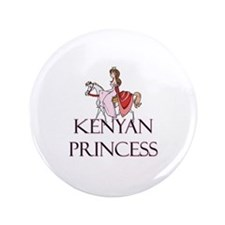 "Kenyan Princess 3.5"" Button"