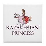 Kazakhstani Princess Tile Coaster