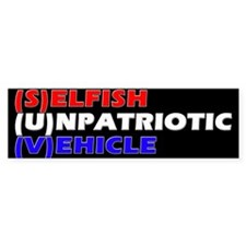 SUV in RW&B Bumper Car Sticker