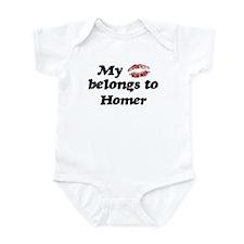 Kiss Belongs to Homer Infant Bodysuit
