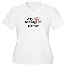 Kiss Belongs to Homer T-Shirt