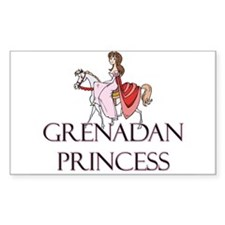 Grenadan Princess Rectangle Decal