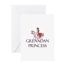 Grenadan Princess Greeting Card